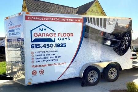 21572- Trailer Wrap for My Garage Floor Guys in Franklin, TN/ 12-Point SignWorks