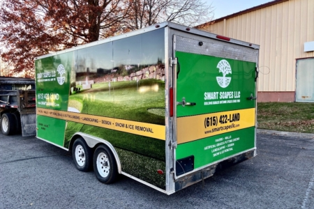 Trailer Wrap Installed by 12-Point SignWorks for Smart Scapes LLC in Nashville TN
