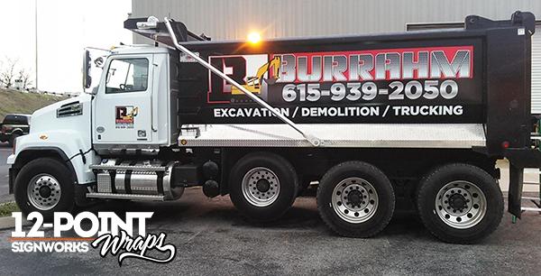 Custom truck graphics for Burrahm. 12-Point SignWorks - Franklin TN