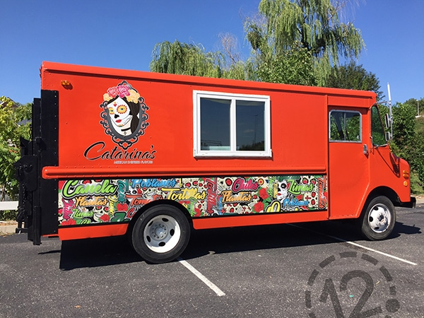 Custom Designed Partial Wrap for Catarina's Mexican Inspired Flavors. 12-Point SignWorks - Franklin, TN