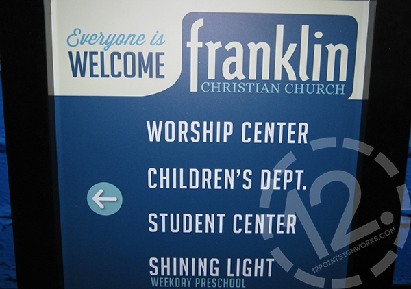 Post and panel wayfinding signage. 12-Point SignWorks - Franklin, TN
