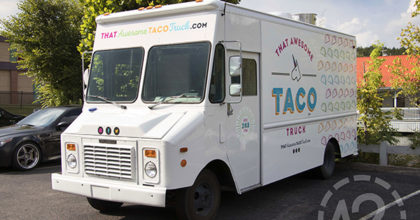 That Awesome Taco Truck has a new custom advertising wrap. 12-Point SignWorks - Franklin, TN