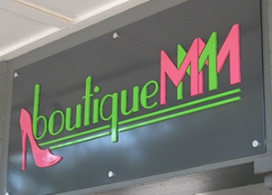 boutique MMM dimensional logo sign higher res