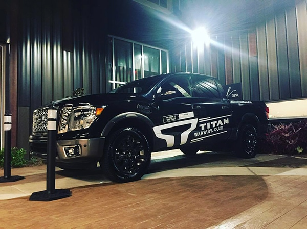 Check out the eye-catching vehicle graphics on this Nissan TITAN Truck! 12-Point SignWorks - Franklin, TN