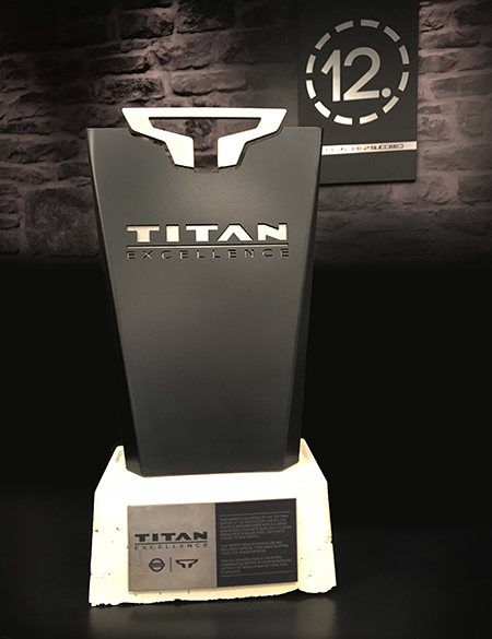 The Excellence trophy is awarded to the highest performing dealership in TITAN sales each month. 12-Point SignWorks - Franklin, TN