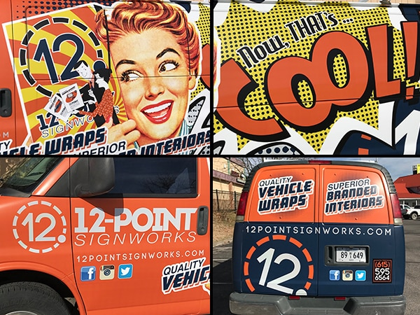 Notice all the details in the new 12-Point cargo van wrap. 12-Point SignWorks - Franklin, TN