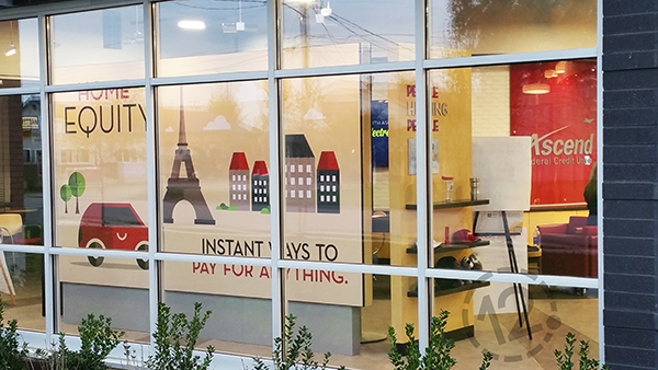 This interchangeable SEG display is a great alternative to window graphics. 12-Point SignWorks - Franklin, TN