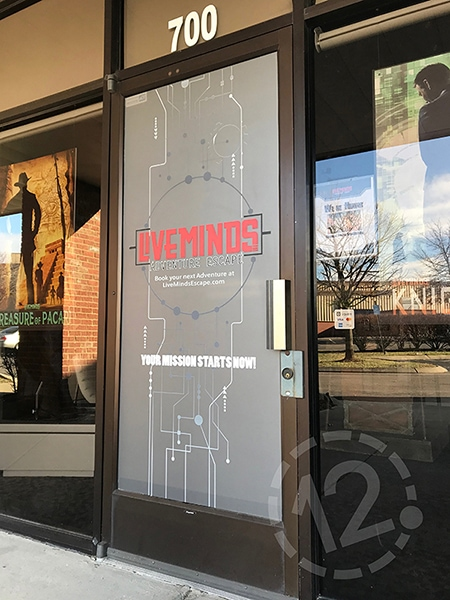 JMC provided the artwork for this beautiful etched glass vinyl. 12-Point SignWorks - Franklin, TN
