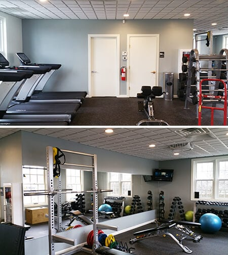 Brentwood Country Club's Workout Facility - Before Pics. 12-Point SignWorks - Franklin, TN