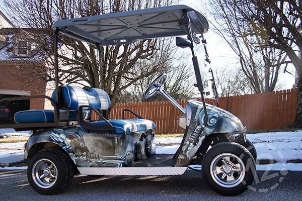 Custom Wraps & Decals Turn Up the Fun on Golf Carts & UTVs