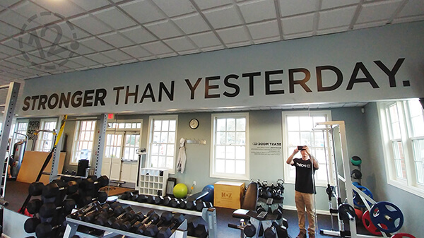 Stronger than Yesterday Motivational Quote. 12-Point SignWorks - Franklin, TN