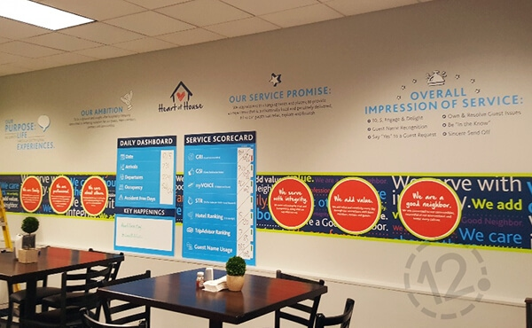 Activation wall contour cut decals. 12-Point SignWorks - Franklin, TN