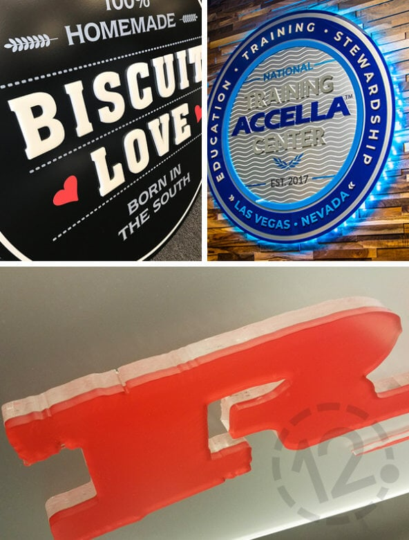 Dimensional Acrylic Signs by 12-Point SignWorks - Franklin, TN