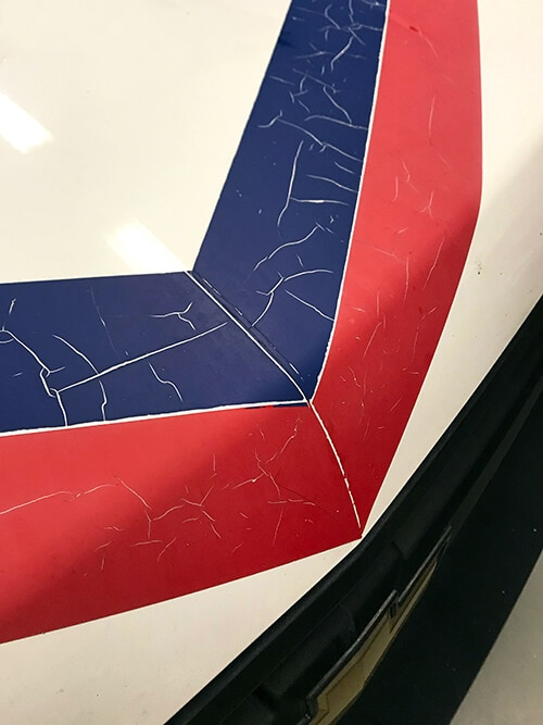 Damage to Vehicle Wrap Caused By Prolonged Exposure to the Sun. 12-Point SignWorks - Franklin, TN