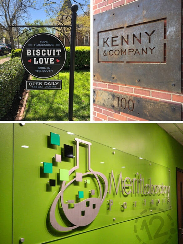 Interior and Exterior Custom Signs. 12-Point SignWorks - Franklin, TN