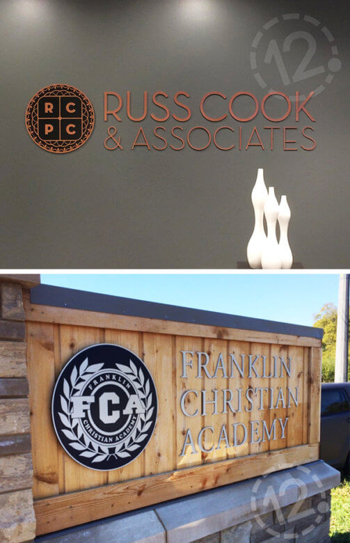 Metal Dimensional Signs by 12-Point SignWorks - Franklin, TN