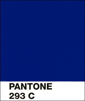 This Is A Close Up View Of Pantone 293 C Dark Royal Blue Color On Coated Paper