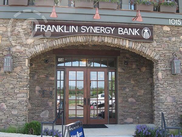 Custom Sign for Franklin Synergy Bank. 12-Point SignWorks - Franklin, TN
