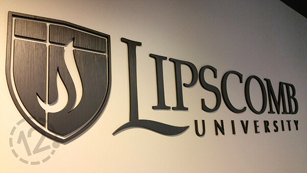 Custom Sign for Lipscomb University. 12-Point SignWorks - Franklin, TN