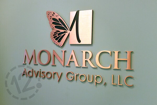 Logo Sign for Monarch Advisory Group. 12-Point SignWorks - Franklin, TN