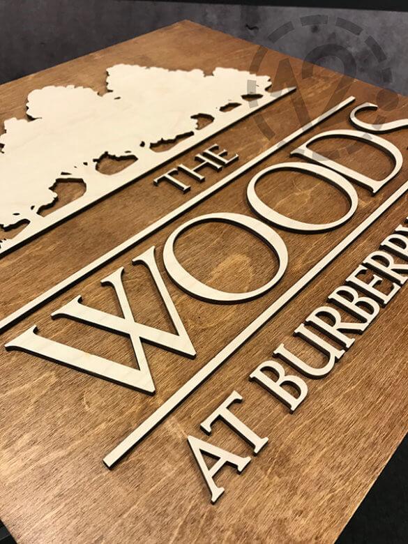 Wooden Dimensional Sign. 12-Point SignWorks - Franklin, TN