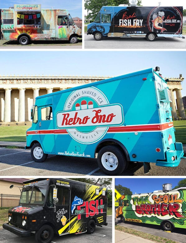 Eye-catching full coverage food truck wraps in Nashville