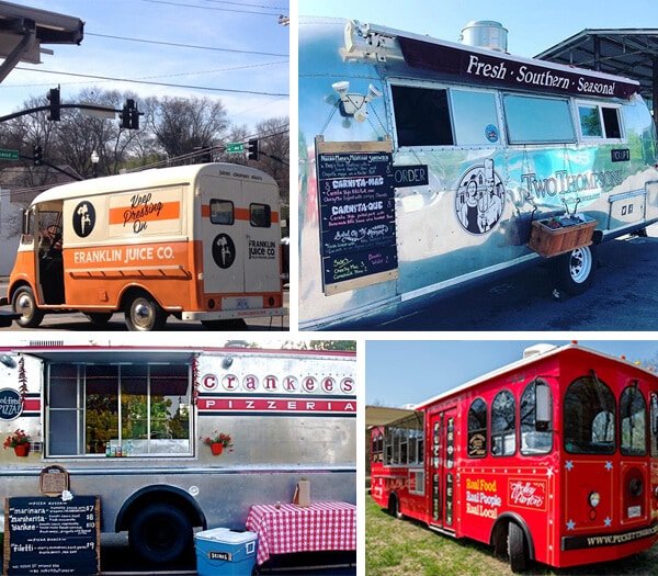 Printed and Cut Vinyl Graphics on Nashville-based Food Trucks and Trailers