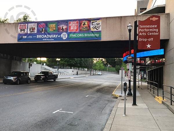 Mesh Banner for TPAC. 12-Point SignWorks - Franklin, TN