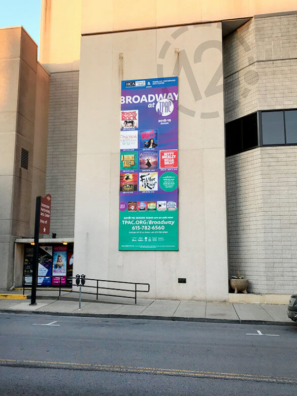 10' x 30' wall mural for TPAC. 12-Point SignWorks - Franklin, TN