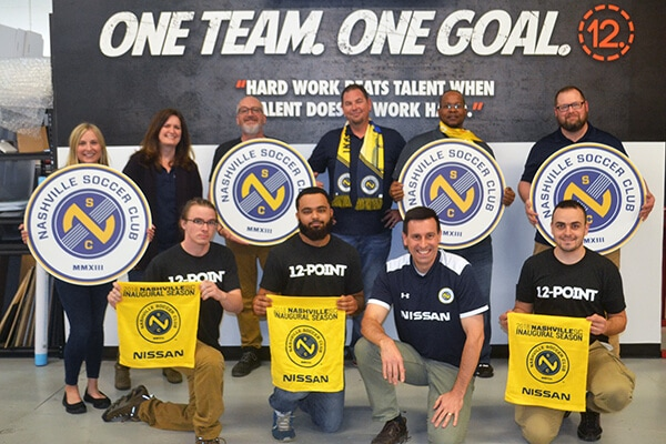 12-Point SignWorks is a proud partner of the Nashville Soccer Club