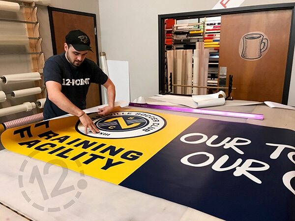 Custom signage for the Nashville Soccer Club. 12-Point SignWorks - Franklin, TN