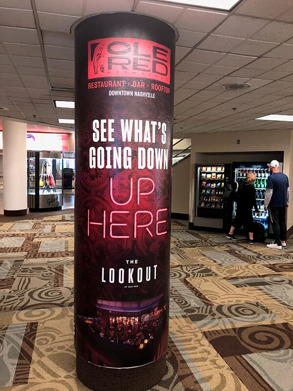 Column Wraps Are Perfect For Advertising Wayfinding