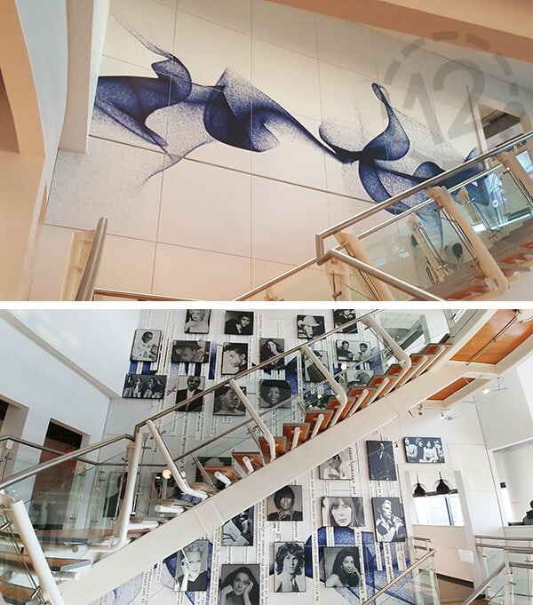 Wall mural for Warner Music. 12-Point SignWorks - Franklin, TN