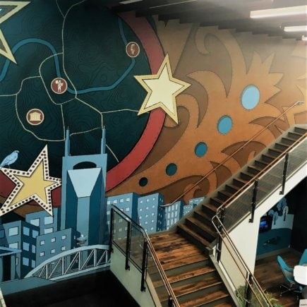 Deloitte wall mural
