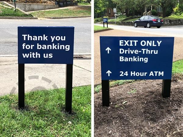 Custom signage for Franklin Synergy Bank. 12-Point SignWorks - Franklin, TN