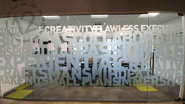 Etched Glass Vinyl Provides Privacy Branding Amp Decoration