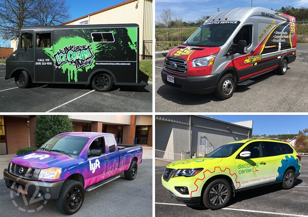 Commercial advertising wraps by 12-Point SignWorks in Franklin, TN.