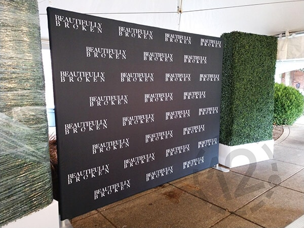 Backwall Display for the Beautifully Broken premiere at the Factory at Franklin. 12-Point SignWorks - Franklin, TN