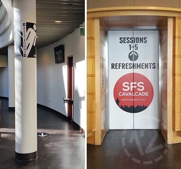 Column and Elevator Wraps. 12-Point SignWorks - Franklin, TN