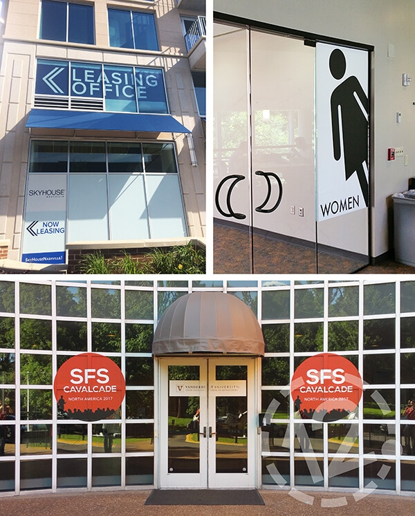 Perforated and solid window vinyl. 12-Point SignWorks - Franklin, TN