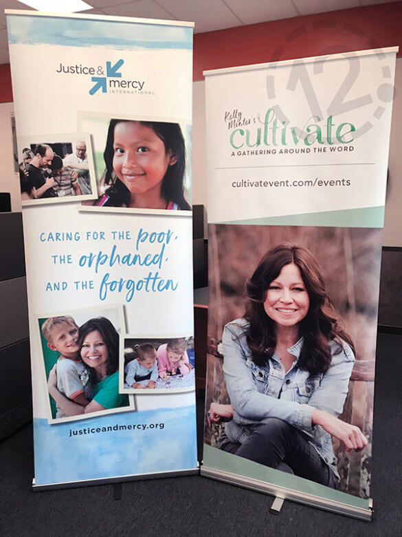 Retractable banners for Justice & Mercy International. 12-Point SignWorks - Franklin, TN