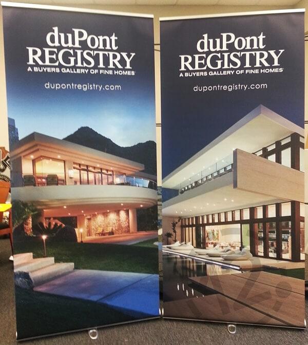 Roll up banner stands for duPont Registry. 12-Point SignWorks - Franklin, TN