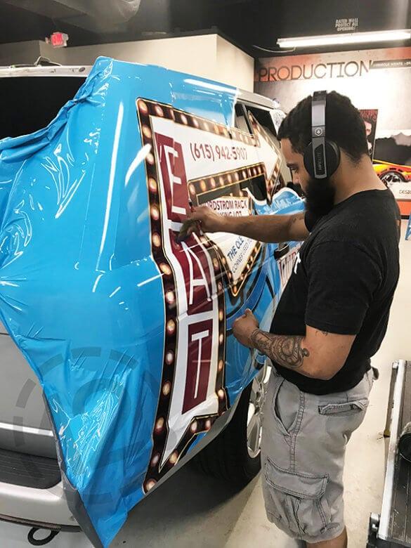 Vinyl wrap installation. 12-Point SignWorks - Franklin, TN