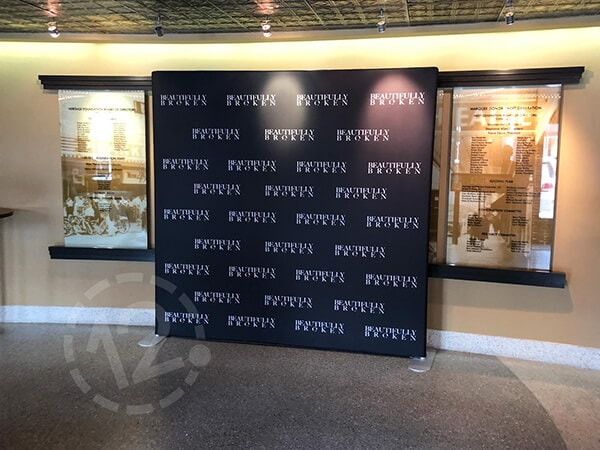 Backwall Display for the Beautifully Broken premiere. 12-Point SignWorks - Franklin, TN