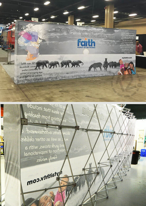Tensioned Fabric Display for Cyrus Trust. 12-Point SignWorks - Franklin, TN