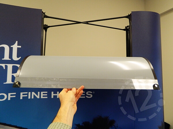 Graphic Panel Magnets on Curved Pop Up Display. 12-Point SignWorks - Franklin, TN