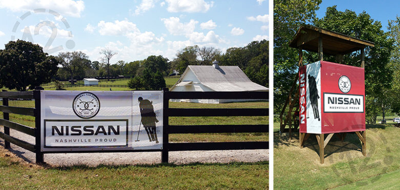 Mesh banners for Chukkers for Charity Event. 12-Point SignWorks - Franklin, TN