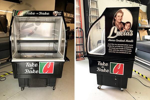Cooler wrap for Coco's Italian Market in Nashville. 12-Point SignWorks - Franklin, TN