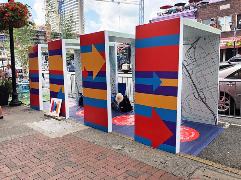 SEGD map exhibit for Nashville PARK(ing) Day. 12-Point SignWorks - Franklin, TN
