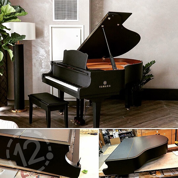Piano wrap for the Hutton Hotel in Nashville. 12-Point SignWorks - Franklin, TN